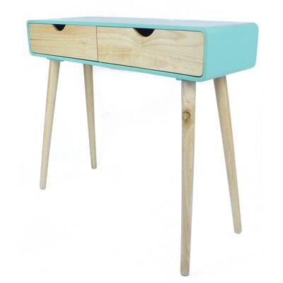 Euro Console Table Color: Aqua