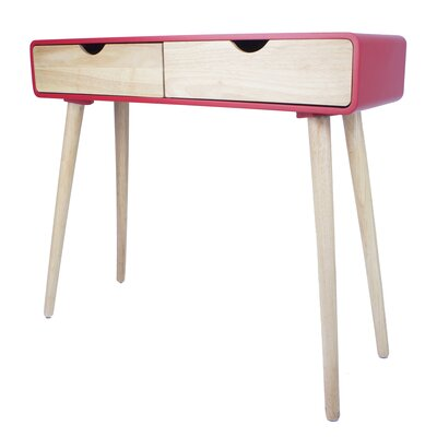 Euro Console Table Color: Red
