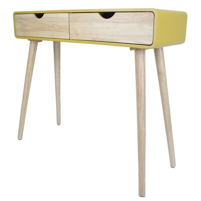 Euro Console Table Color: Yellow