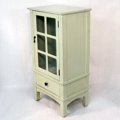Wooden Accent Cabinet with Glass Insert Color: Light Green