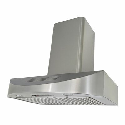 "36"" Brillia 400 CFM Ductless Wall Mount Range Hood"