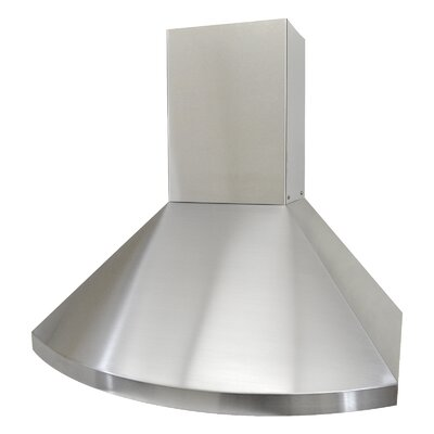 "30"" Deluxe 700 CFM Ducted Wall Mount Range Hood Height: 56.25"""