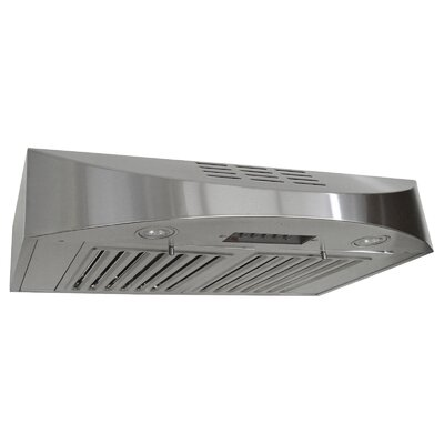 "30"" Brillia 400 CFM Ductless Under Cabinet Range Hood"