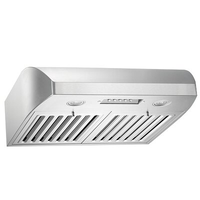 "36"" Brillia 680 CFM Ducted Under Cabinet Range Hood"