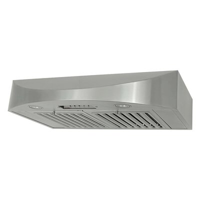 "30"" Brillia 650 CFM Ducted Under Cabinet Range Hood"