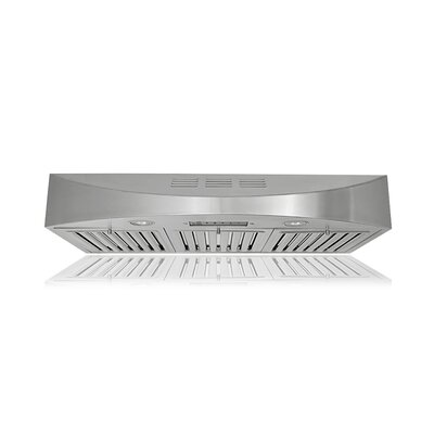 "36"" Brillia 400 CFM Ductless Under Cabinet Range Hood"