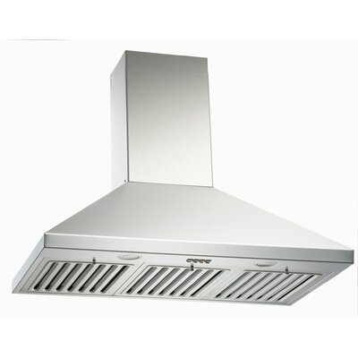 "30"" Brillia 750 CFM Ducted Wall Mount Range Hood Height: 56.2"""