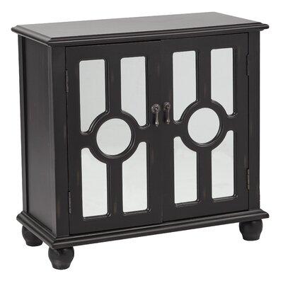 Eladia Storage 2 Door Accent Cabinet Color: Antique Black
