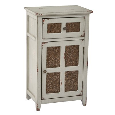Marceau Storage 1 Door 1 Drawer Accent Cabinet Color: Antique Gray