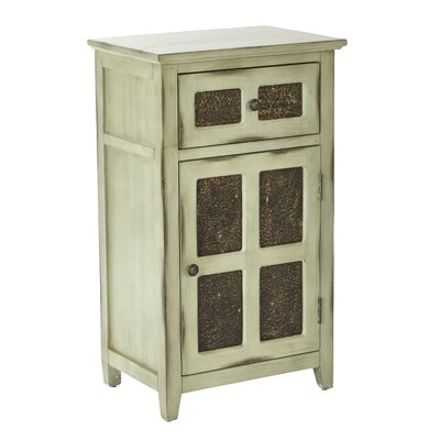 Marceau Storage 1 Door 1 Drawer Accent Cabinet Color: Antique Celedon