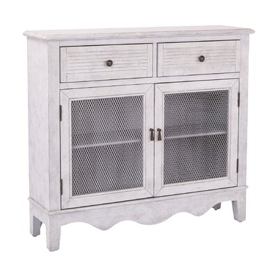 Margaux Storage 2 Door 2 Drawer Accent Cabinet Color: Antique Stone