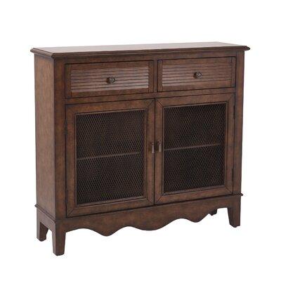 Margaux Storage 2 Door 2 Drawer Accent Cabinet Color: Antique Java