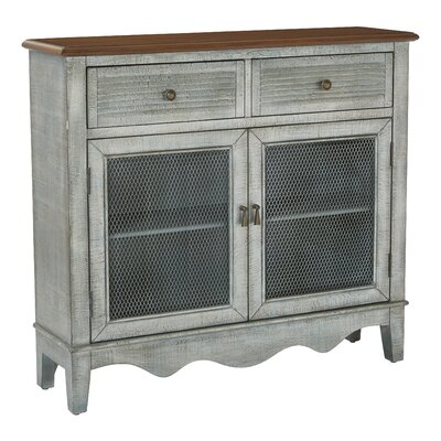 Margaux Storage 2 Door 2 Drawer Accent Cabinet Color: Antique Blue