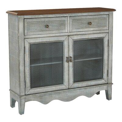 Margaux Storage 2 Door 2 Drawer Accent Cabinet Color: Antique Blue