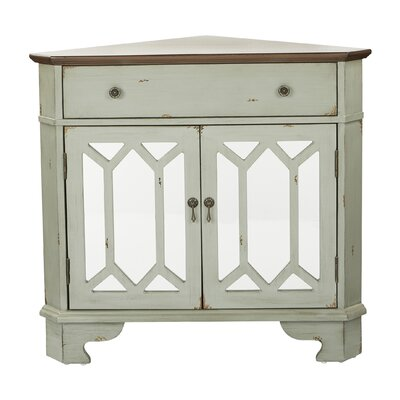 Hardyston Corner Storage 1 Drawer 2 Door Accent Cabinet Color: Gray