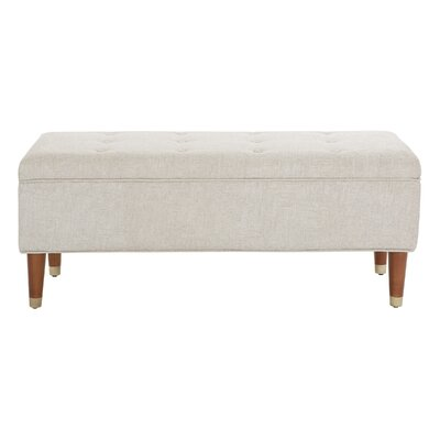 Rizer Upholstered Storage Bench Upholstery: Wheat