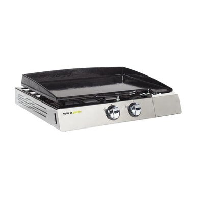 cook in garden Marciac Double Hot Plate with Adjustable Feet