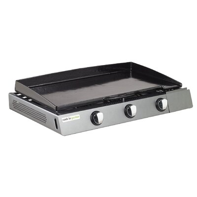 cook in garden Finesta Gas Plancha with 3 Burners