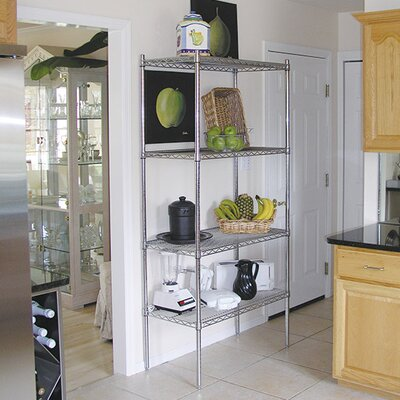 "Wire Storage 4 Shelf Shelving Unit Kit Size: 74"" H x 72"" W x 18"" D"