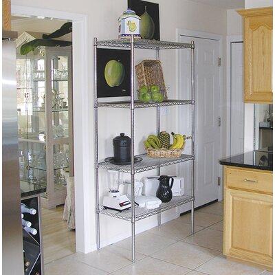 """Wire Storage 4 Shelf Shelving Unit Kit Size: 74"""" H x 36"""" W x 24"""" D"""