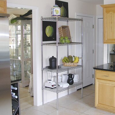 "Wire Storage 4 Shelf Shelving Unit Kit Size: 74"" H x 72"" W x 24"" D"