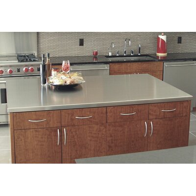 "Island Counter Top Size: 1.5"" H x 120"" W x 49"" D"
