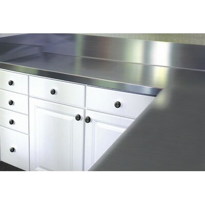 "Stainless Steel Counter Top with Blacksplash Size: 13"" H x 30"" W x 30"" D"