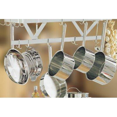 """Ceiling Pot Rack Size: 12"""" H x 48"""" W x 22"""" D"""