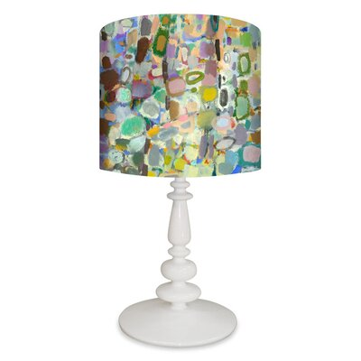 """GreenBox Art Abstract Forest 26"""" H Table Lamp with Drum Shade"""