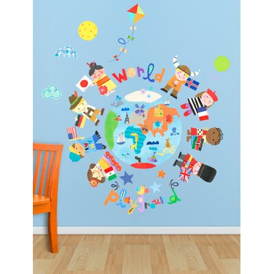 The World Is Your Playground Peel and Place Wall Decal Set