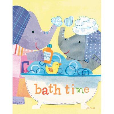 Taking A Bath Canvas Art