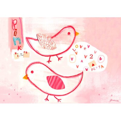 Pink Birdies Canvas Art