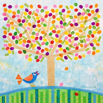 "Jellybean Tree Canvas all Art Size: 14"" H x 14"" W x 1.5"" D"