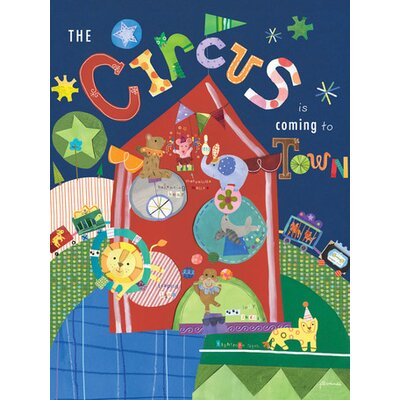 The Circus is Coming to Town Canvas Art