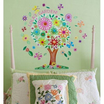Flower Tree Peel and Place Wall Decal Set