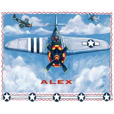 "Airplane Canvas Art Size: 24"" H x 30"" W x 1.5"" D"