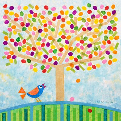"Jellybean Tree Canvas all Art Size: 30"" H x 30"" W x 1.5"" D"