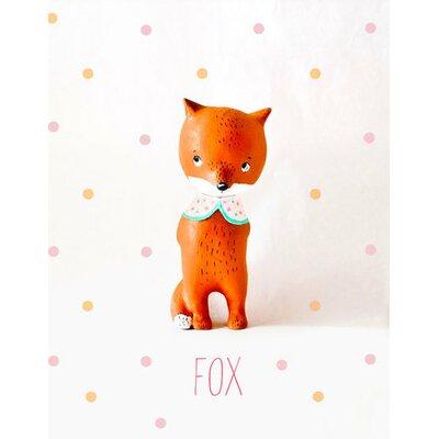 "Paper Mache Fox by Paola Zakimi Canvas Art Size: 18"" H x 14"" W"
