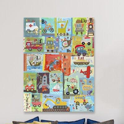 """Go Alphabet Canvas Art Size: 40"""" H x 30"""" W x 1.5"""" D"""