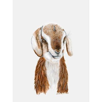"Daquan Goat Portrait by Brett Blumenthal Stretched Canvas Wall Art Size: 24"" H x 18"" W x 1.5"" D"