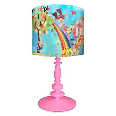 """Oopsy Daisy Say Say Oh Playmate 21"""" H Table Lamp with Drum Shade"""