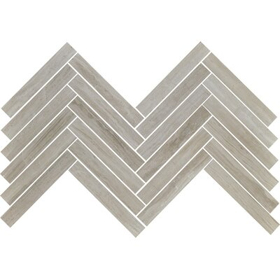 Cerro Hudson 0.88 x 2.88 Marble Mosaic Tile in Gray
