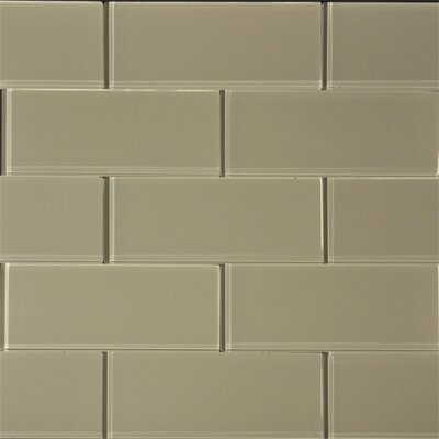 "3"" x 8"" Glass SubwayTile in Wheat"