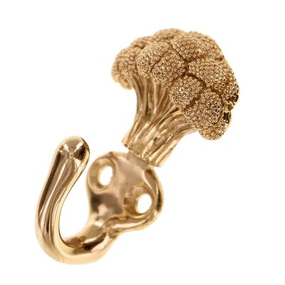 Fiori Broccoli Hook Finish: Polished Gold