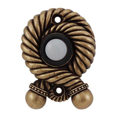 Equestre Rope Doorbell Finish: Antique Brass