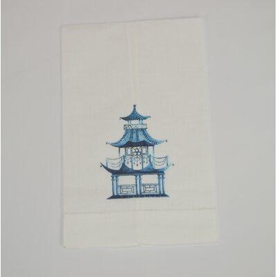 Hemstitched Pagoda Linen Hand Towel (Set of 2)