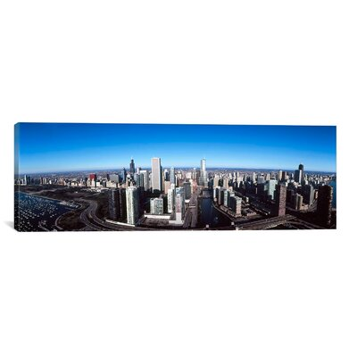 iCanvas Panoramic 'Skyscrapers in a City, Trump Tower, Chicago River, Chicago, Cook County, Illinois, 2011' Photographic Print on Canvas