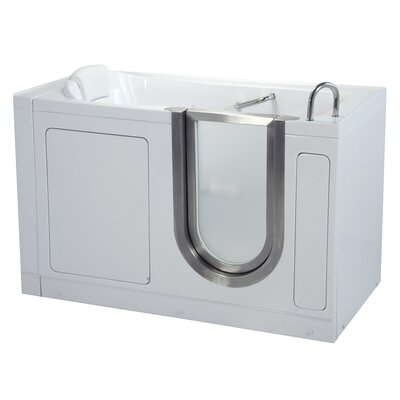 "55"" x 30"" Deluxe Soaking Walk In Tub Door and Drain Location: Right"