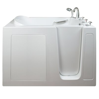 Narrow Wide Hydrotherapy Massage Whirlpool Walk-In Tub Drain Location: Right