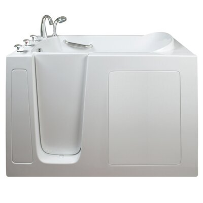 Narrow Wide Hydrotherapy Massage Whirlpool Walk-In Tub Drain Location: Left
